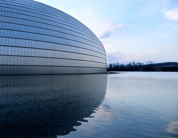 Il Grande Teatro Nazionale Cinese di Pechino, realizzato dallo studio francese di Paul Andreu